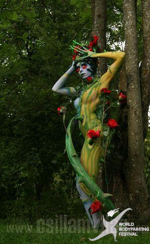 One with nature bodypainting