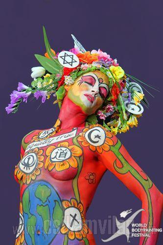 Spirituality bodypainting
