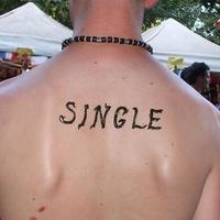 Im single - Read my lips henna tattoo on back