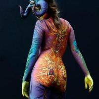 Exorcising the inner demons bodypainting