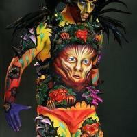 Spirit of the forest bodypainting
