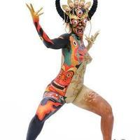 Thai dancer bodypainting