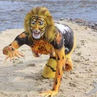 The tigress bodypainting