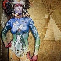 Magical fantasy land bodypainting