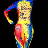 Testfestés - Stand up for your reiz bodypainting