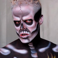Skeletor facepainting