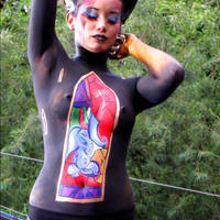 Testfestés - Stained glass bodypainting